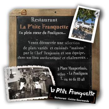 Restaurant Bistrot Le Pouliguen - La P'tite Franquette